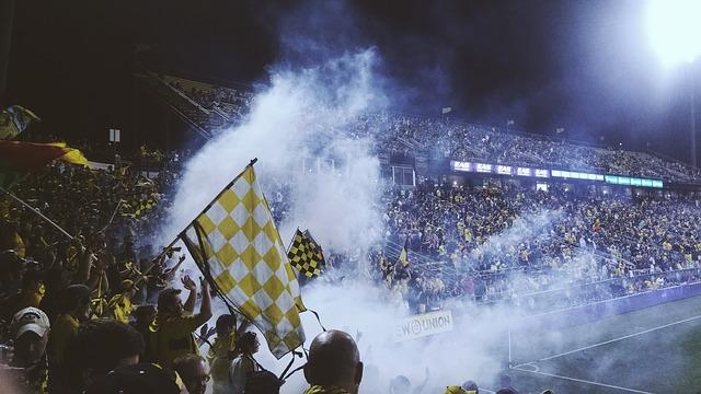 Fussball Stadion Fans
